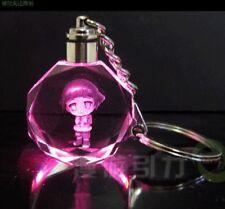 Naruto Hy¨±ga Hinata Colorful Led Crystal Key chain Beauty Shine Keyring