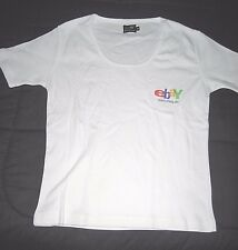 2005 eBay Germany Medium (runs small) White Short Sleeve Women's T-Shirt--New