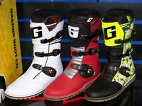 Clearance Gaerne Balance Classic Trials boot Red, Yellow camouflage, white. New