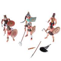 6X Ancient Roman Gladiator Medieval Warriors Figure Models Playset Kids Toy