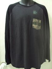 NEW RIP CURL SURF MEN CUSTOM THE LONSON BLACK CHARCOAL L/S LARGE TEE SHIRT MM81