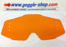 GOGGLE-SHOP DRILLED ROLL-OFF LENS ORANGE TINT to fit 100% MOTOCROSS MX GOGGLES