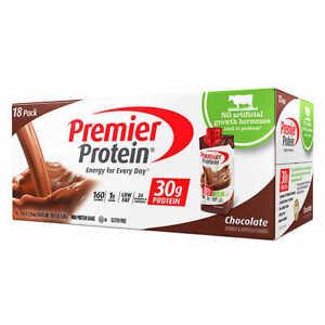 Premier Protein Shakes  Chocolate 11 fl. oz., 18-pack