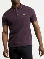 Lyle & Scott Men's Tipped Polo Short Sleeve Shirt In Burgundy