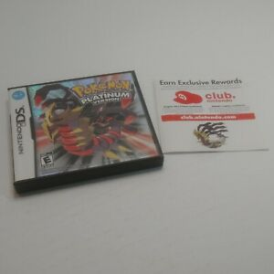 Pokemon Platinum Version Nintendo DS Case & Inserts Only *NO GAME Or MANUAL*