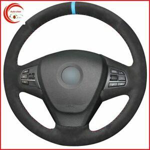 Black Suede Car Steering Wheel Cover for BMW F25 X3 2011-2017 F15 X5 2014 B94