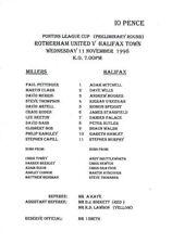Halifax Town Home Team Reserves Football Programmes