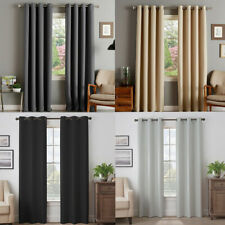 Curtains Thermal Blackout Black Out Eyelet Ring 1pc Fully Lined Energy Saving
