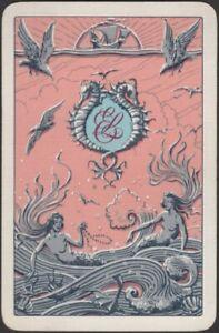 Playing Cards Single Card Old Vintage * ELLERMAN LINES * Shipping MERMAIDS Art M
