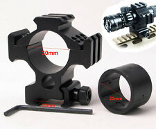 "Tactical Tri-Rail Picatinny Weaver Rail Rilfe Mount Ring Dia 1"" 25.4mm or 30mm"