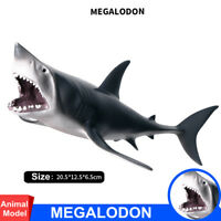 Rare Megalodon Figure Ancient Shark Whale Wild Animal Model Toy Collector Gift
