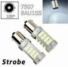 Strobe White Rear Turn Signal Light BAU15S 7507 PY21W 92 LED Bulb Lamp A1 LAX