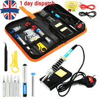 UK Top Seller ✔ 60W Soldering Iron Kit Electronics Welding Irons Solder Tools