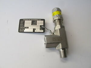Swagelok SS-RL3M4-F4 SS Low Pressure Proportional Relief Valve, 10-225 psig NOS