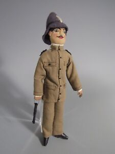 Fine Rare South American Cloth Doll of a Policeman Officer Soldier ca. 19-20th c
