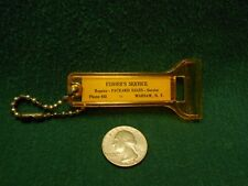 ORIGINAL PACKARD COLLECTIBLE KEY CHAIN ICE SCRAPER FISHER'S SERVICE WARSAW N.Y.
