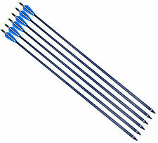 12*30'' Archery ID7.6mm Aluminum Arrow Shaft 4'' Vane Nock Compound Bow hunting