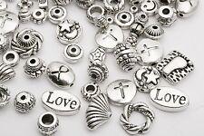 Lots Mixed 60pcs Tibetan Silver Spacer Beads Hope Love Cross Findings DIY HN
