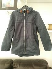 Boys Very Trendy Dark Grey Fully Lined Hooded Coat Aged 5-6 Yrs by George