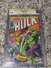 Incredible hulk 181 CGC SS 7.0 Stan Lee, First Wolverine!