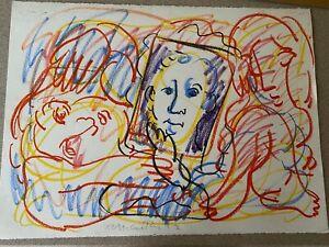 Rick McCarthy Original Oil Pastel Signed Contemporary Art Picasso School