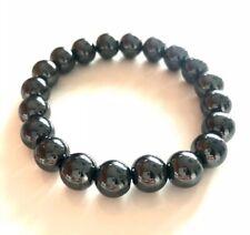 Beaded Stretch Handmade Genuine Hematite Bracelet Jewelry Mens Womens Unisex