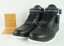 b50acb529186 NEW AUTH LOUIS VUITTON LV RIVOLI MEN BLACK SNEAKERS BOOT LV 10   11 US