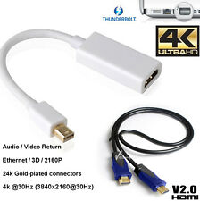 Thunderbolt Mini Display Port To HDMI 2.0 Cable HDTV Full 4K For Macbook Pro Air