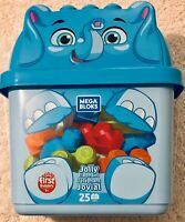 FISHER PRICE MEGA BLOKS JOLLY ELEPHANT 25 PIECE FIRST BUILDERS PLAY SET NEW