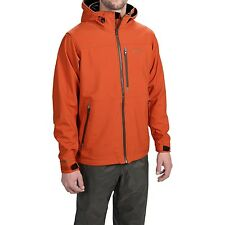 Simms Windstopper Soft Shell Gore Water Repellent Fury Orange Fishing Jacket XL