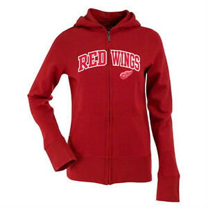 NWT Detroit Red Wings Ladies Signature Applique Full Zip Hoodie Red - Small