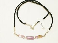 """AMETHYST CHOKER NECKLACE 44CM SILVER PLATED """"NEW"""" AUZ MADE CH24"""