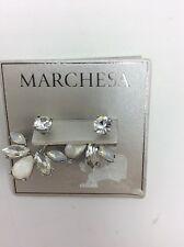 $55 Marchesa Stone Fan Floater Earrings M102
