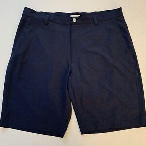 Peter Millar Mens Crown Stretch Navy Golf Shorts Size 36 EUC