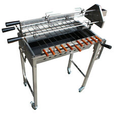 New 2018 Cyprus Grill with height adjustment Stainless Steel BBQ Spit Rotisserie