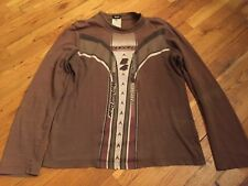 Dolce & Gabbana Men Brown Shirt Long sleeves, Size XL