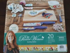 The Pioneer Woman Dazzling Dahlias 20 pc Set NEW IN BOX