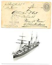 NED INDIE SMN 1892-11-4 PS OVER GENUA   SHIP =S.S.PRINS HENDRIK = + AK  F/VF