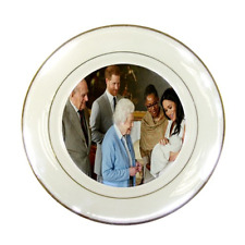 THE QUEEN MEETS BABY ARCHIE PORCELAIN PLATE - HIGH QUALITY PRINT