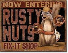 Rusty Nut repair shop USA métal voiture atelier repratur Déco Bouclier