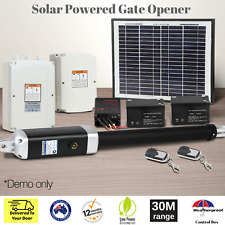 Solar Power Electric Automatic Swing Gate Opener Remote Control Hardware Include