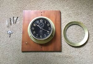 Vintage rare Waltham ship clock US Navy brass
