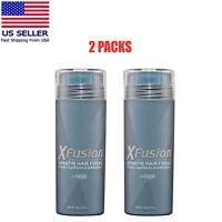 XFusion Keratin Hair Fibers Medium Brown 0.98oz 2packs FAST SHIPPING USA