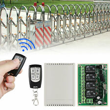12V 4CH Channel 443MHz Wireless RF Remote Control Relay Switch With 2 Receiver