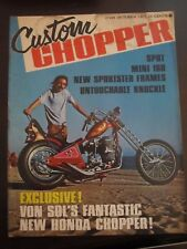 Custom Chopper Magazine October 1971 Mini 160 New Sportster Frames (AC)