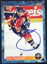 Tom Fitzgerald Florida Panthers 1993-94 Score Signed Card