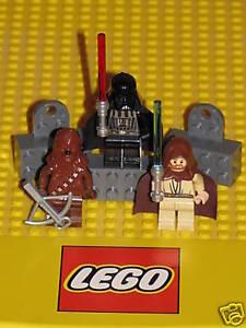 New in Box Lego STAR WARS Chewbacca Darth Vader Obi Wan Kenobi Minifig Magnets