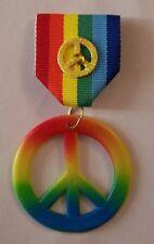 Rainbow Peace Love Happy Party Favor Kid Parade Award Gift Usa July Medal Pin Xo