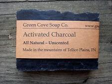 Activated Charcoal Detox All Natural Vegan Lye Soap 4 oz Green Cove Soap Company