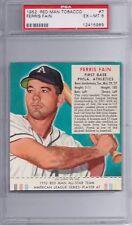 1952 Red Man Tobacco Set #7 Ferris Fain Athletics PSA 6